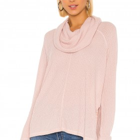 Jack By BB Dakota House Of Waffles Cowl Neck Top