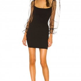 Eleganza Long Sleeve Mini Dress