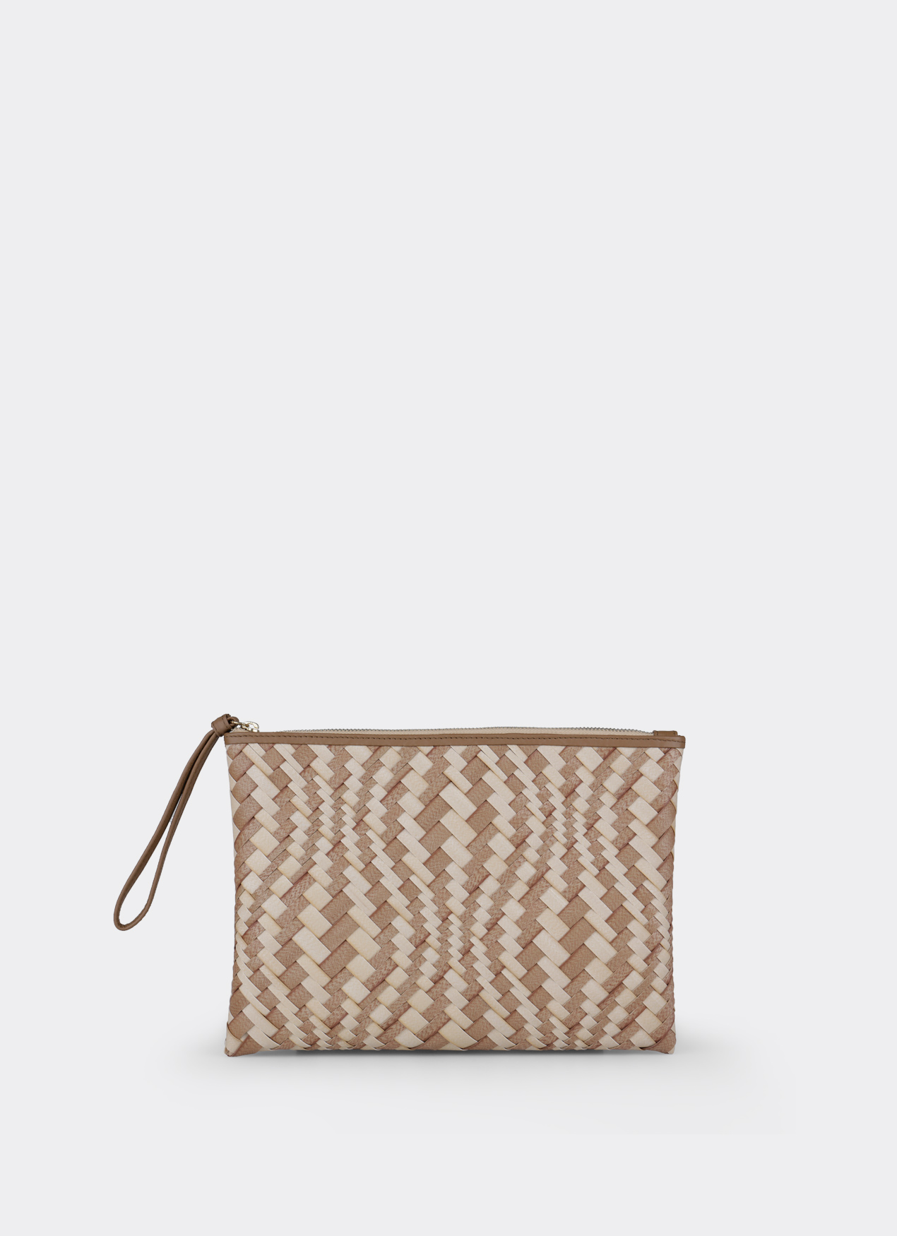 Chameo Couture Piper Clutch Radiance Brown Cream
