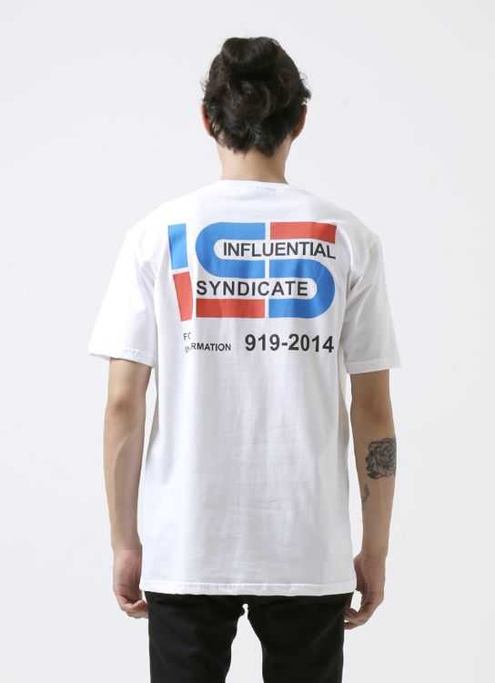 Influential Syndicate White For Information T-Shirt