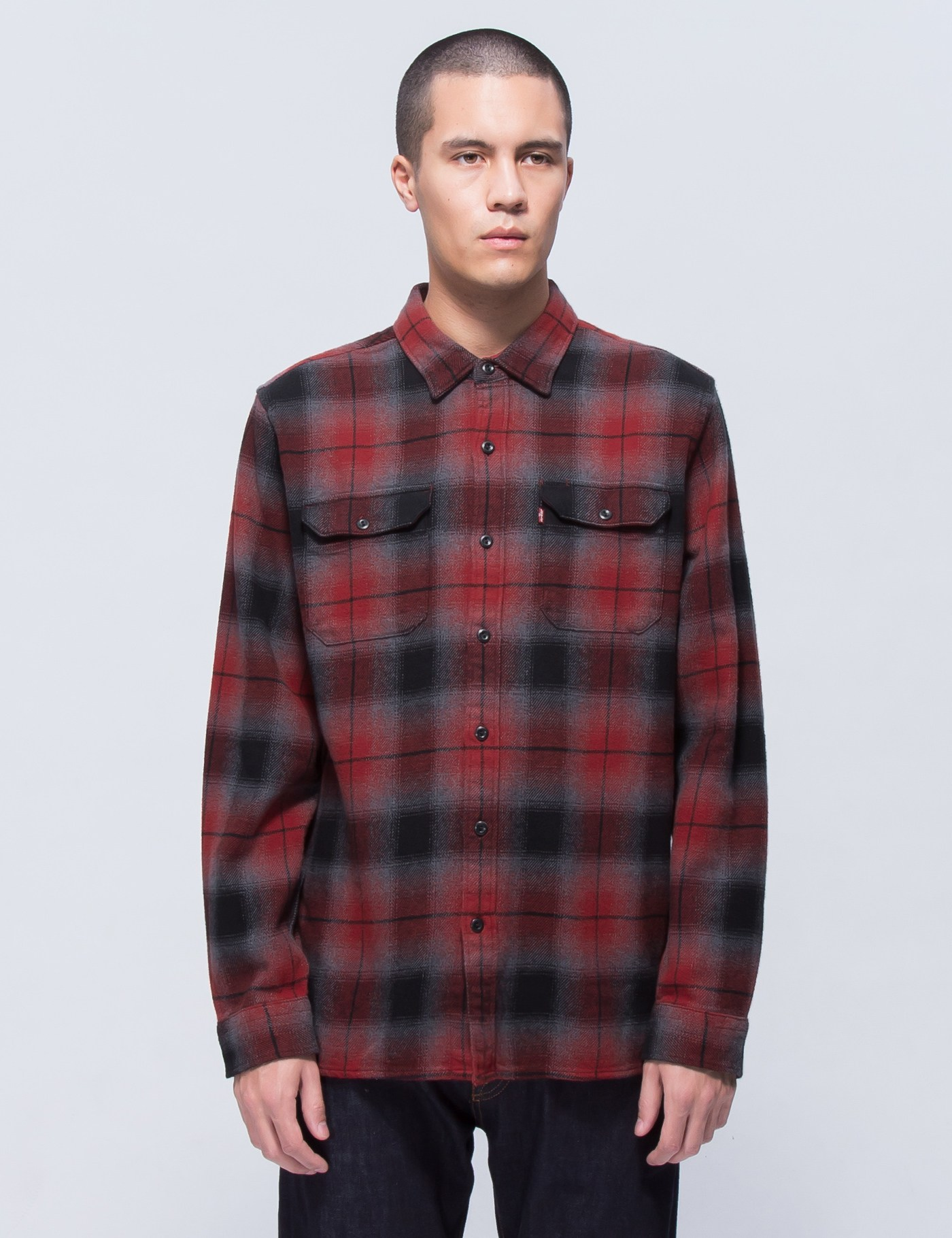 7bfe9a63352 Buy Original Levi s Clove Sun Dried Tomato Plaid L S Worker Shirt at ...