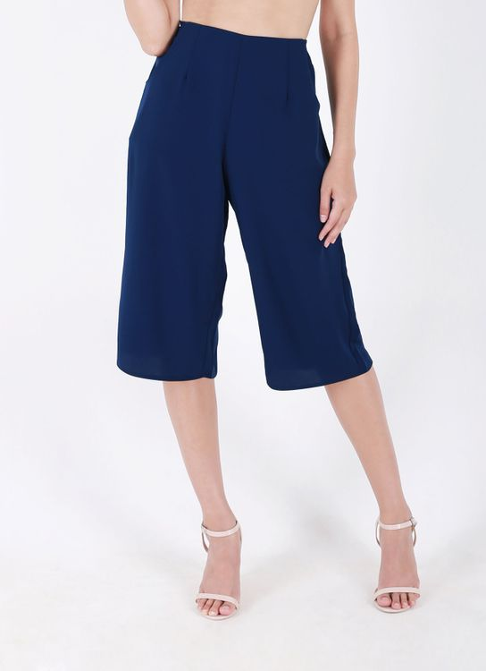 Auria Navy Everyday Culottes