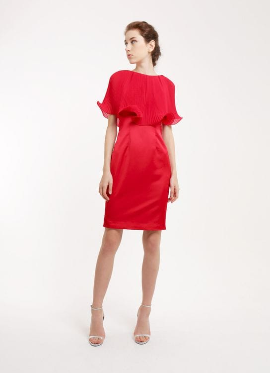 CDC The Label Wine Lotus Harmony Cape Dress