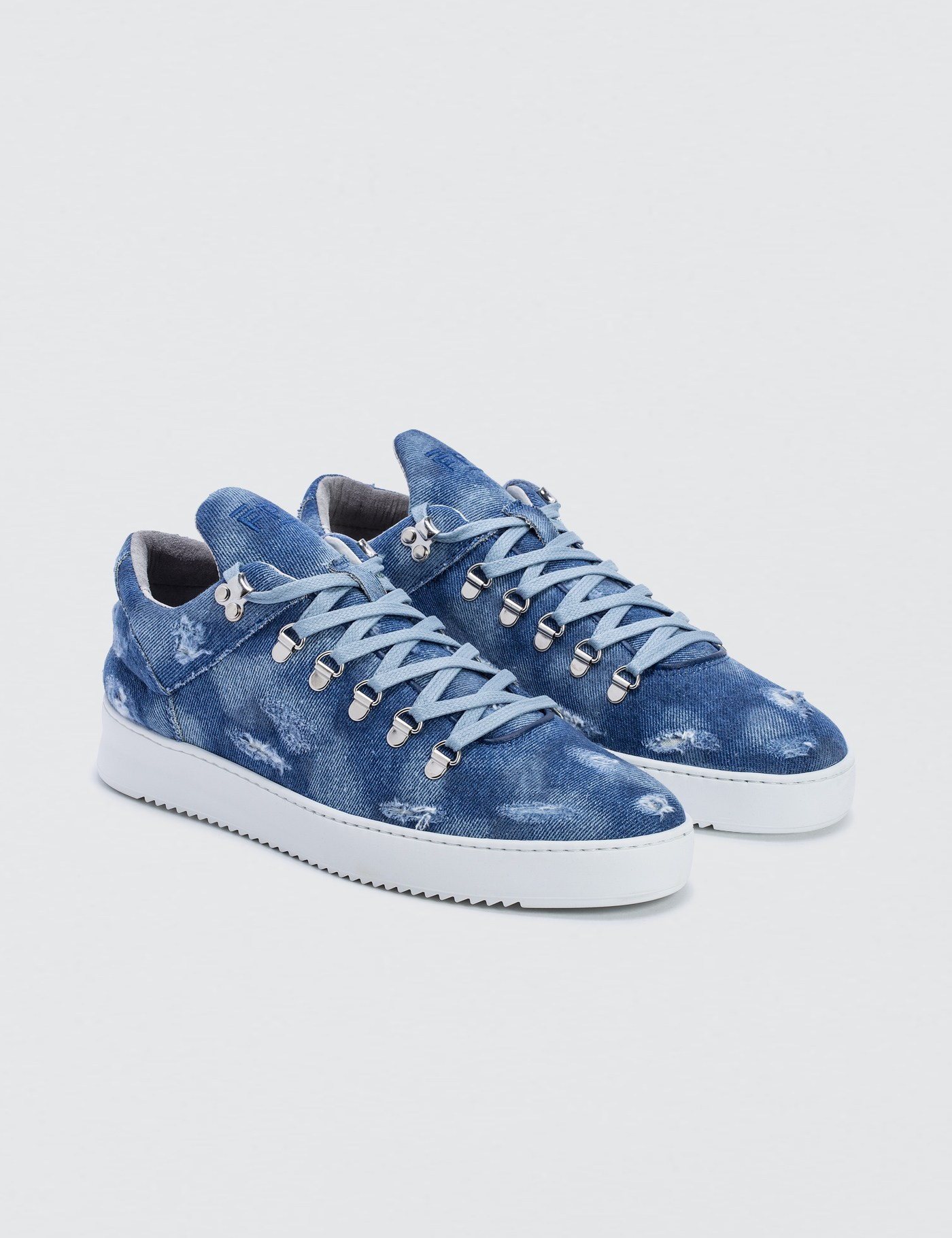 Filling Pieces Mountain Cut Denim Sneakers