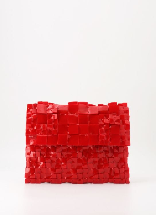 Byo Balado Red Alligator Small Clutch
