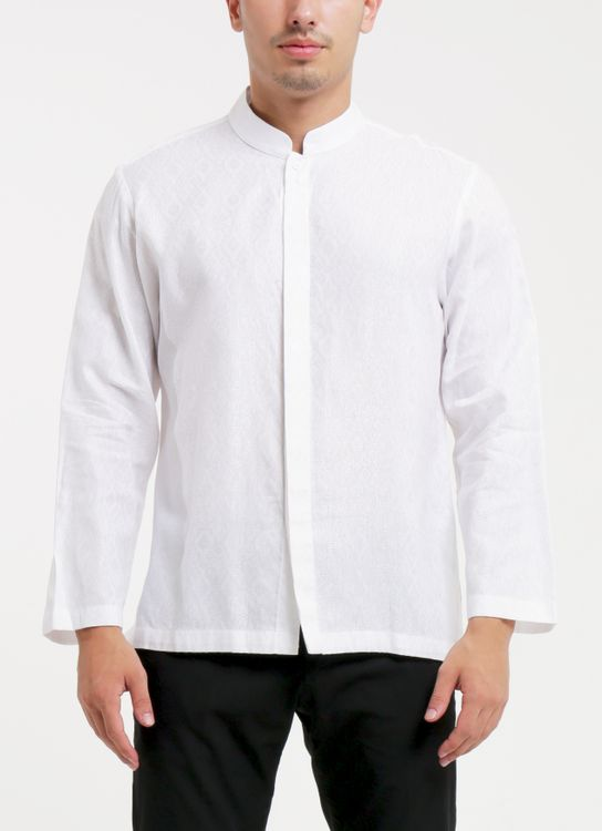 Larissa Duliar White Koko Long Sleeves Shirt