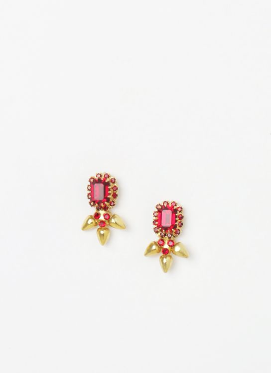 EPAJewel Red & Gold Small Sun Simple II Earrings