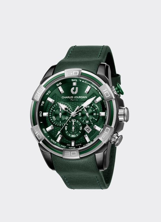 Charles Jourdan Green & Silver CJ1016-1792 Man Watch
