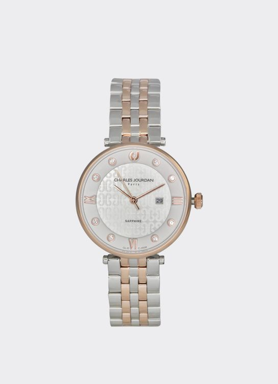 Charles Jourdan Silver & Rosegold CJ1008-2613 Woman Watch