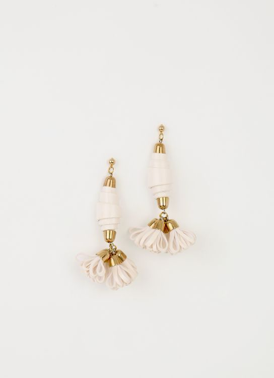 The Theme White BB'S Tail Earrings