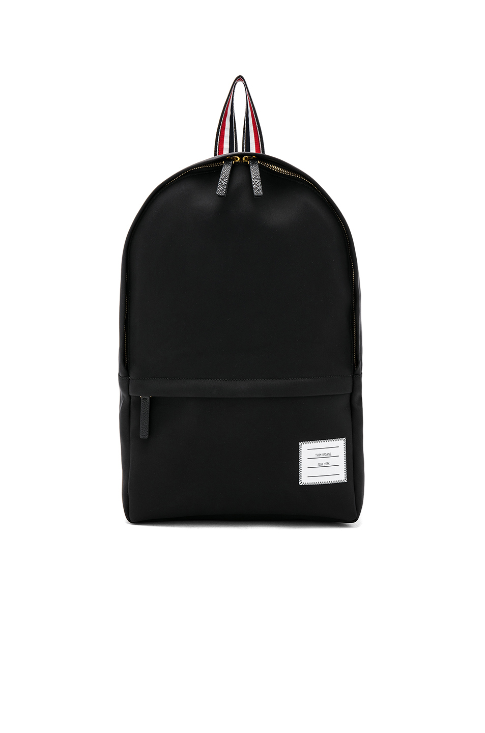 6b9cf7015d Jual Thom Browne Nylon Tech Backpack with Intarsia Stripe - 100 ...