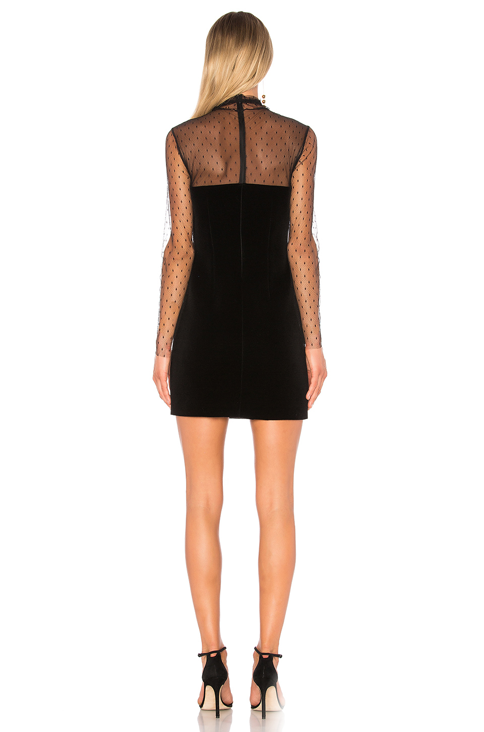 Lace Detail Dress Red Valentino