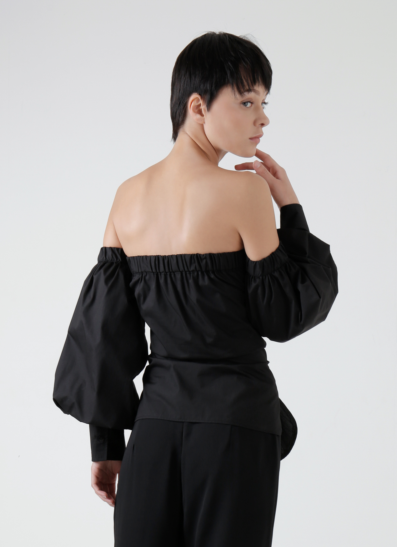 Commonwear Black Dakota Corset Top