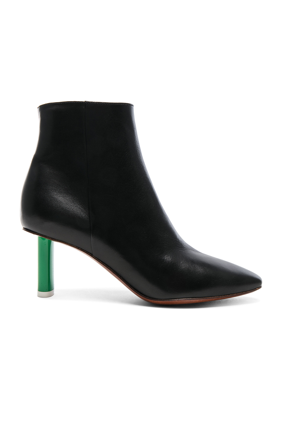 ca01fe66b36 Buy Original VETEMENTS Lighter Heel Leather Ankle Boots at Indonesia ...