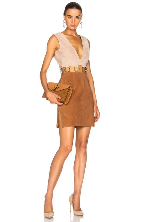 Understated Leather Ultimate for FWRD Suede Colorblock Dress