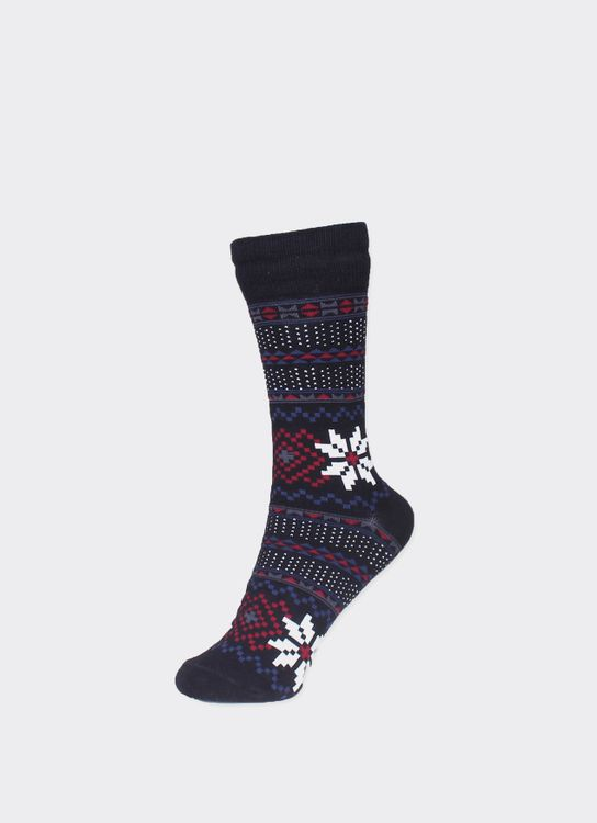 Pattent Goods Black Blomma Socks