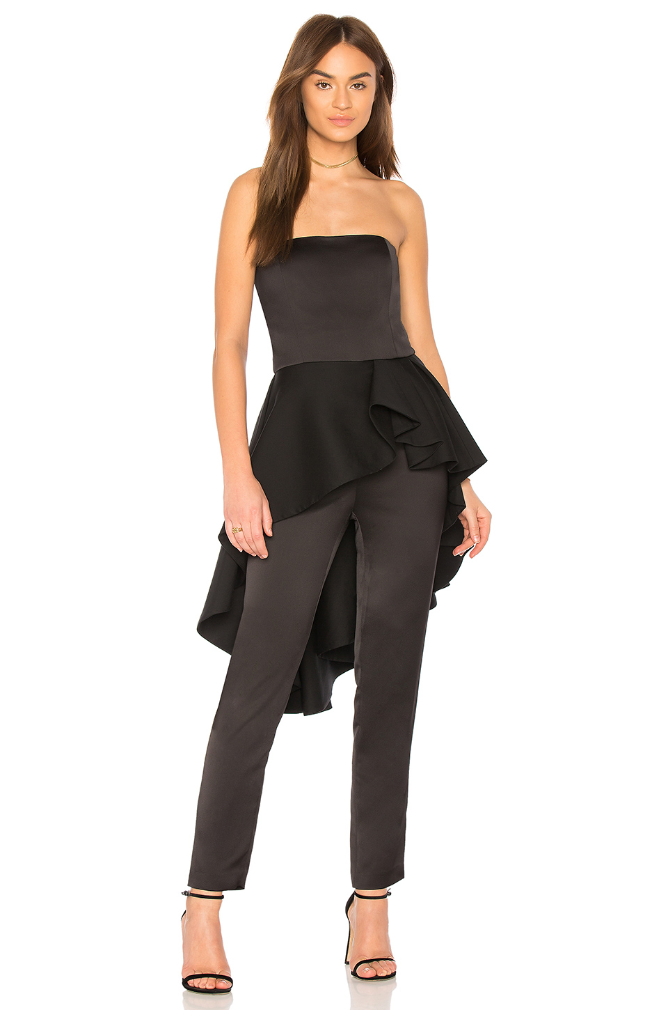 ab5896fa8a93 Buy Original Halston Heritage Strapless Jumpsuit With Flounce Skirt ...