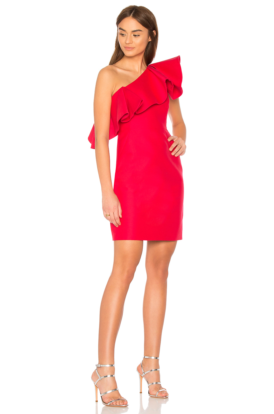 f5ca65c2f5b08 Buy Original Halston Heritage One Shoulder Dress With Flounce at ...