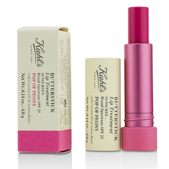 Kiehl's Butterstick Lip Treatment SPF25 - Pop Of Peony  4g/0.14oz