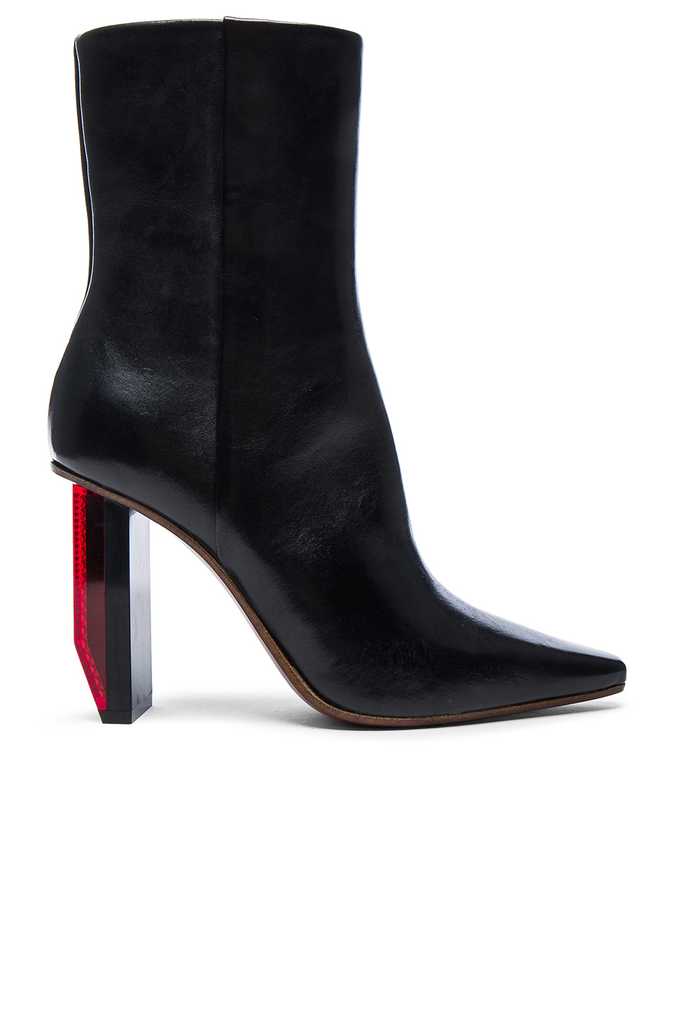 79ae1627b65 VETEMENTS Reflector Leather Ankle Boots  VETEMENTS Reflector Leather Ankle  Boots ...