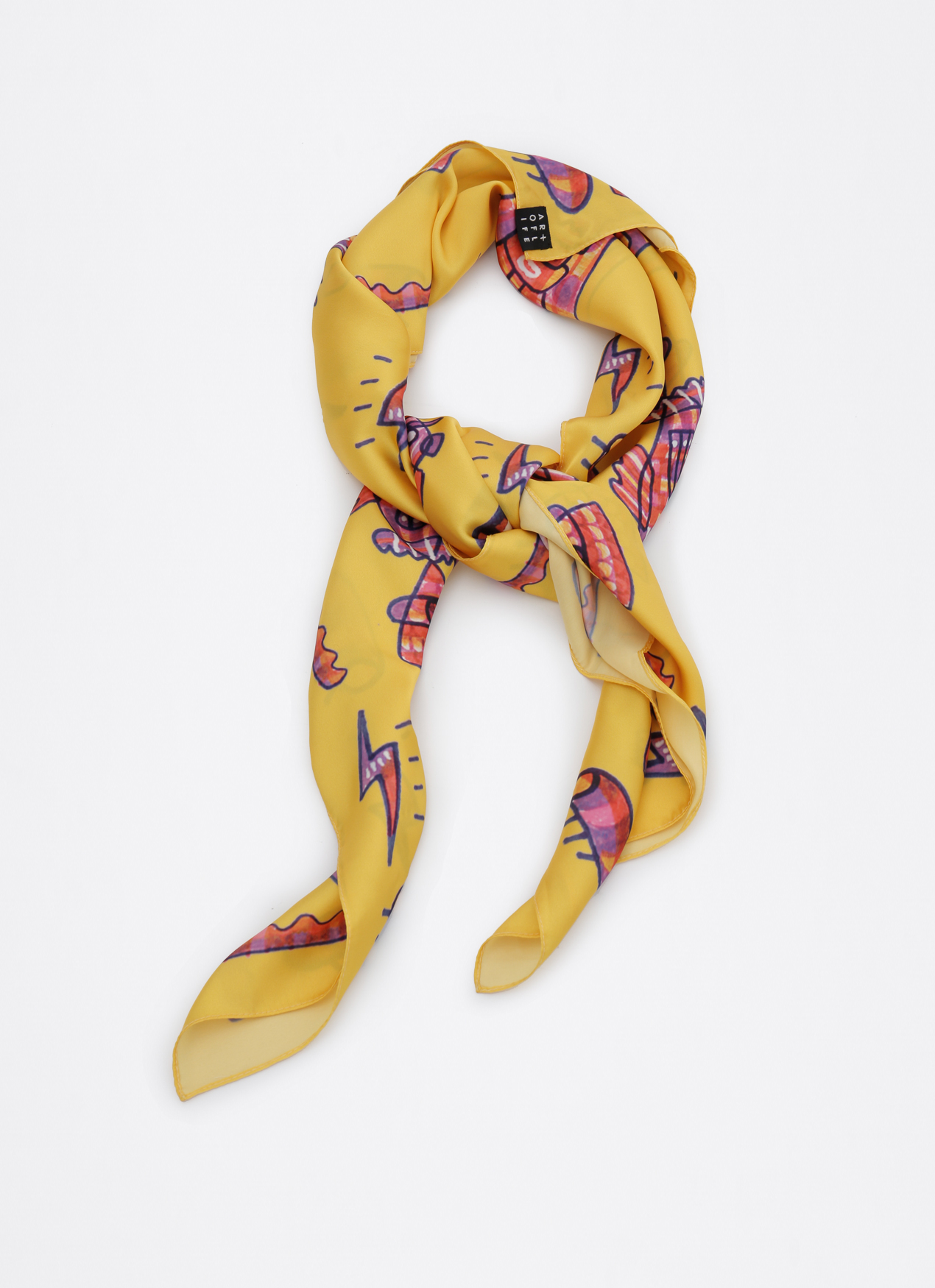 Art Of Life Yellow AOL x Abenk Alter Scarf