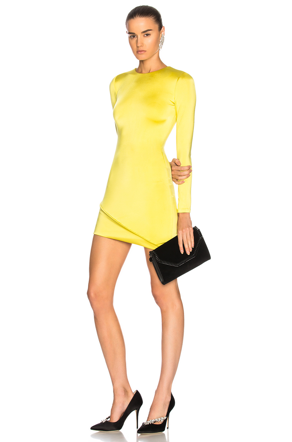 e6beba9b2c5 Buy Original Cushnie et Ochs Asymmetrical Hem Long Sleeve Mini Dress ...