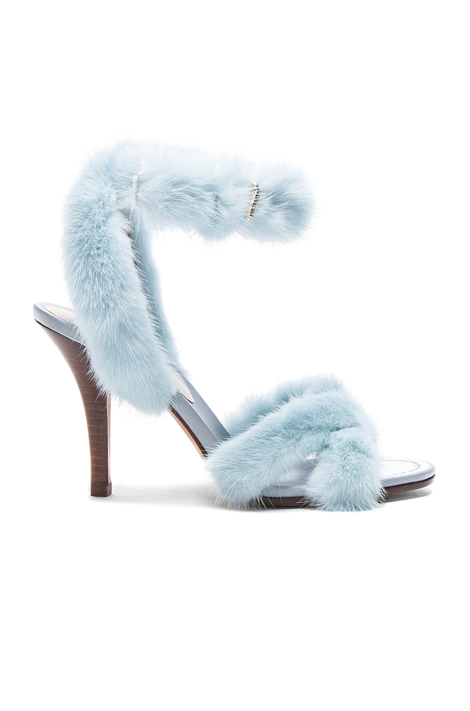 57fce92934e7 Buy Original Valentino Mink Fur Ankle Strap Heels at Indonesia ...