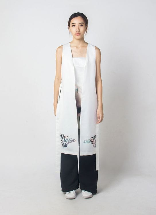 Enigmanifesto White Monsoon Vest
