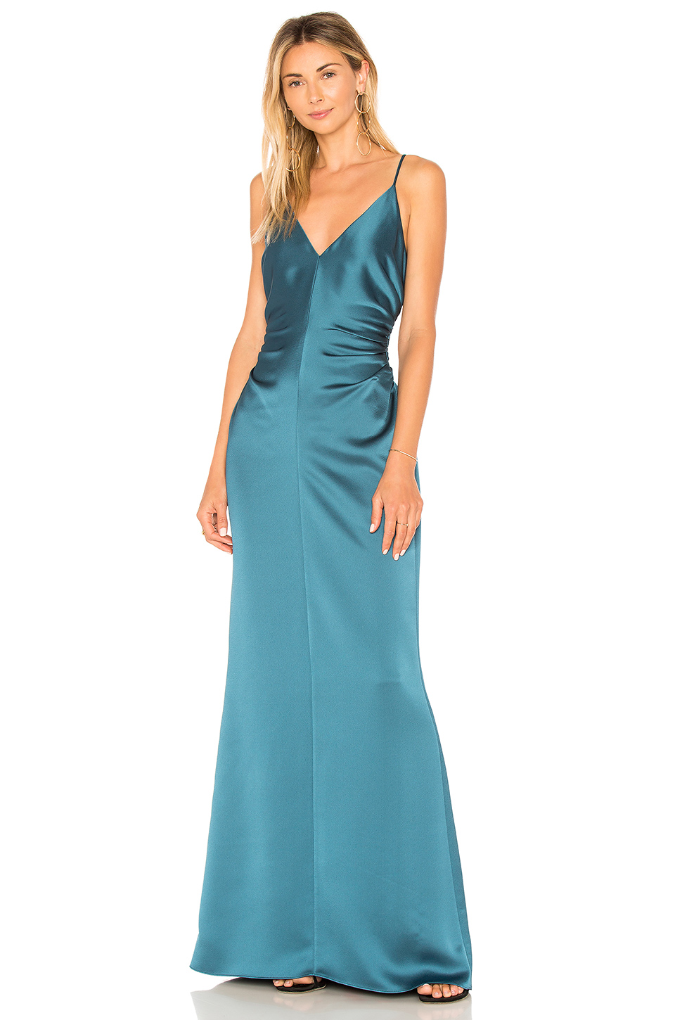 a3fb80aa00635 Buy Original Halston Heritage Slip Dress With Side Gathers at ...