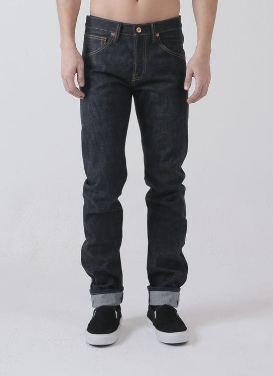Blue Muscle Union Deep Indigo The Flat Foot Denim Pants