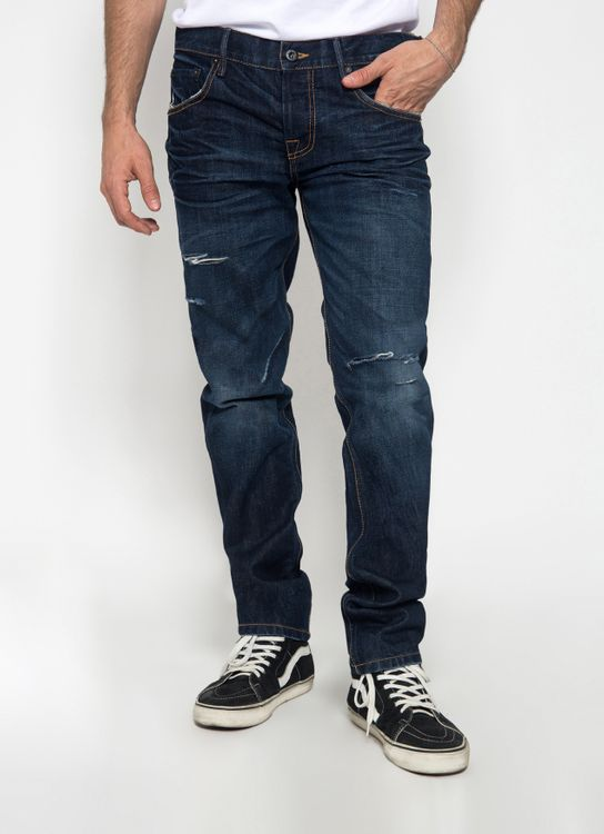 Sixteen Denim Scale Dark Blue Dippy DW 01 Denim Pants