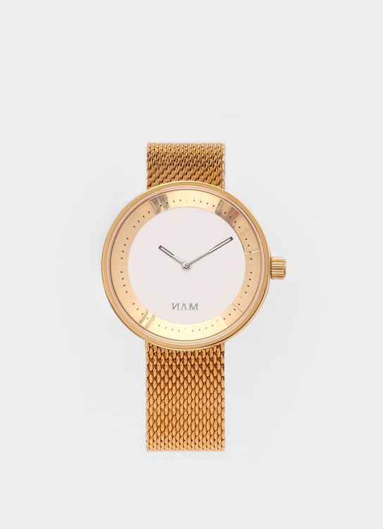 NAM Watch Gold Toba Mesh Watch