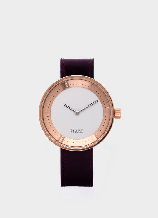 NAM Watch Rose Gold Toba Brown Leather Watch