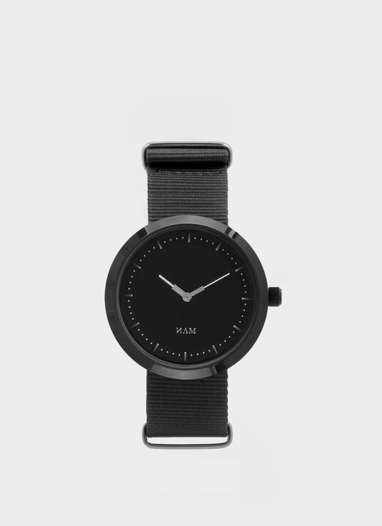 NAM Watch Black Krakatoa Black Nato Gray Watch