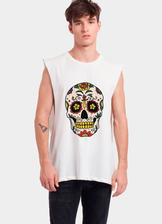 Monstore Off White Calavera Muscle Tee