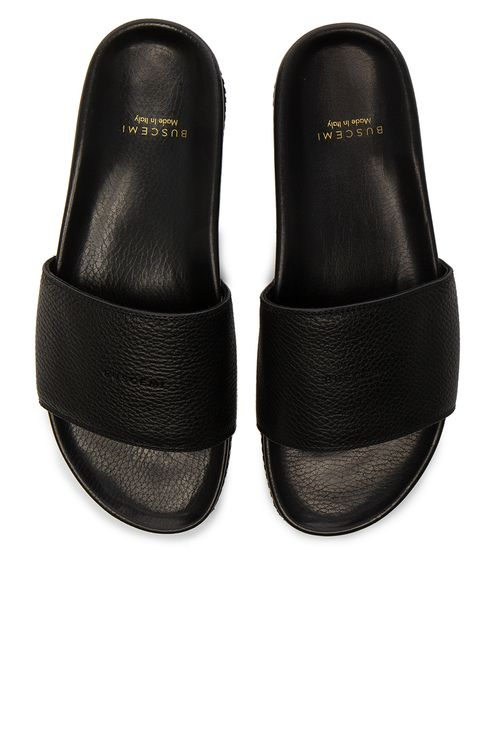 Buscemi Leather Classic Slide Sandals