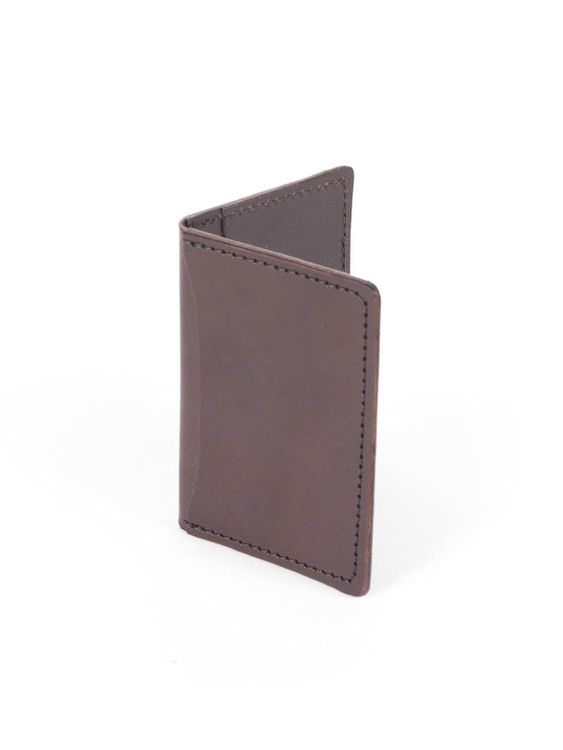 Wood&Faulk Wood&Faulk Front Pocket Brown Chromexcel Wallet