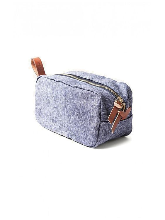 Tanner Goods Tanner Goods Drifter Dopp Kit Navy Salt & Pepper