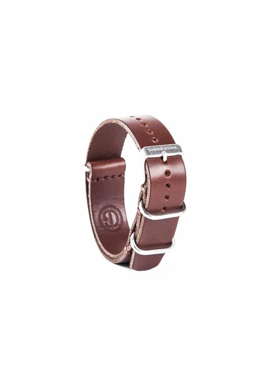 Tanner Goods Tanner Goods Watch Nato Strap Cognac 20mm
