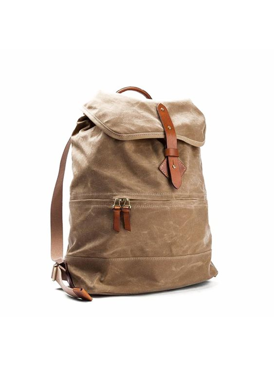 Tanner Goods Tanner Goods Voyager Daypack Waxed Field Tan