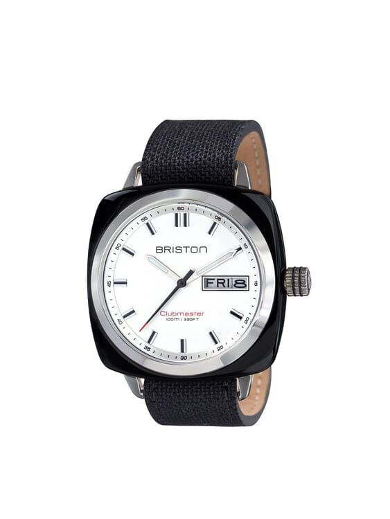 d2e26dc37d BRISTON Briston Clubmaster Sport Acetate HMS Black With White Dial 42mm