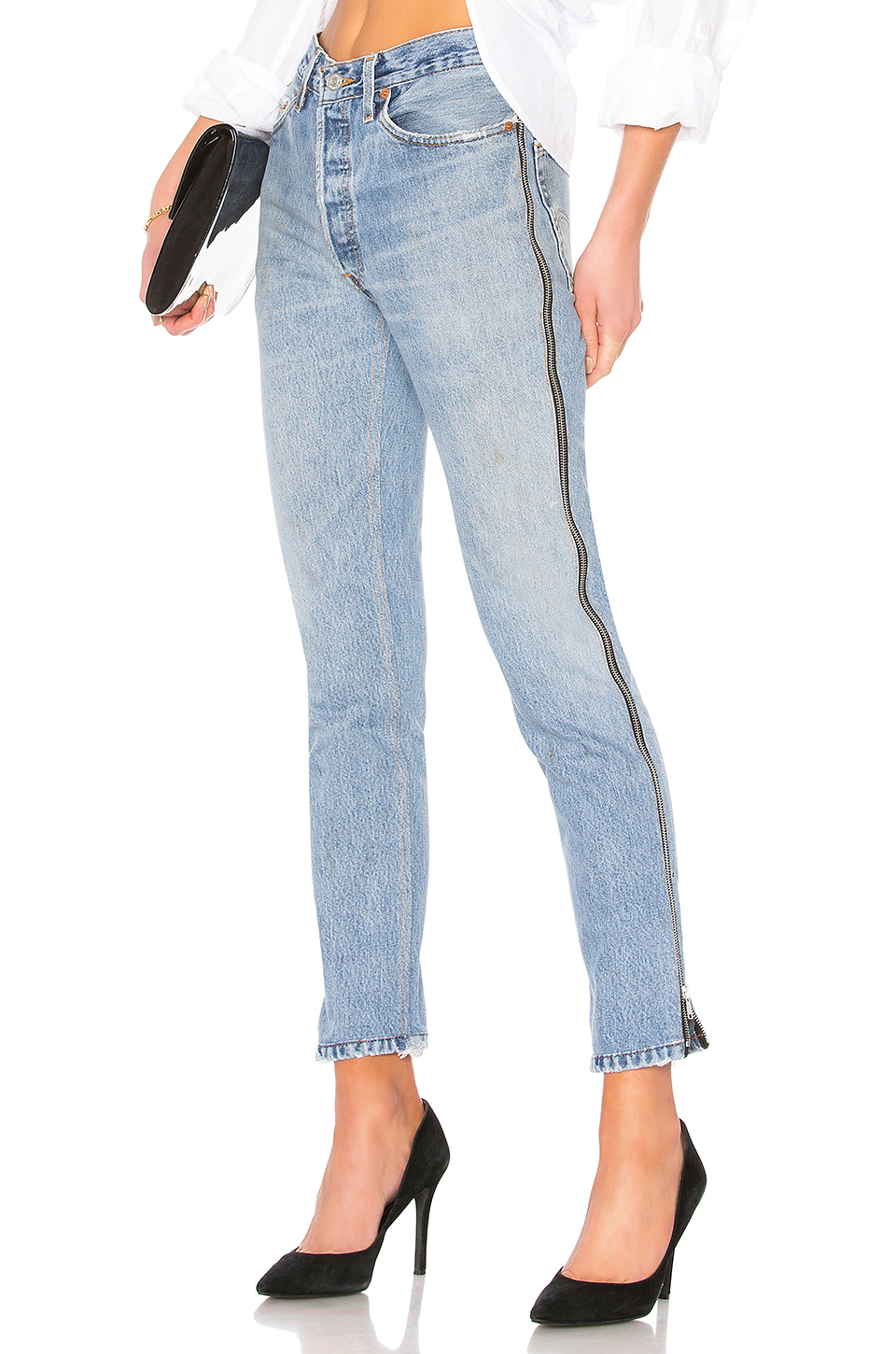 1629458e8f0 Buy Original RE/DONE LEVI'S High Rise Ankle Crop Zip at Indonesia ...