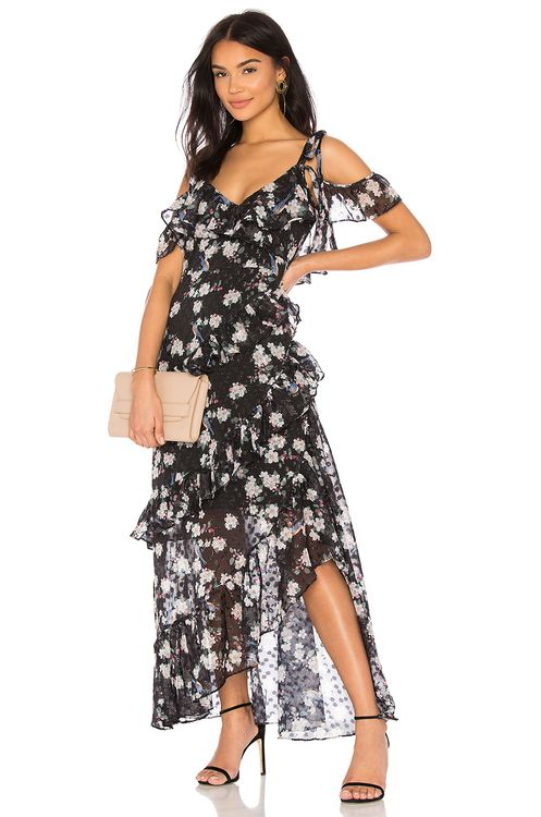 We Are Kindred Pippa Ruffle Maxi Dress
