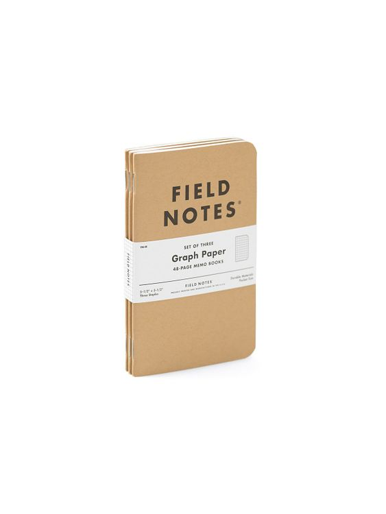 Field Notes Field Notes Original Kraft 3 Packs Graph Paper