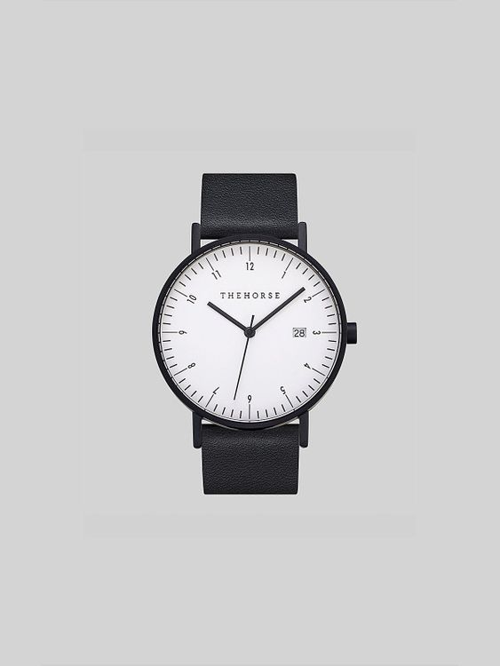 The Horse The Horse D-Series Black Black Leather Watch