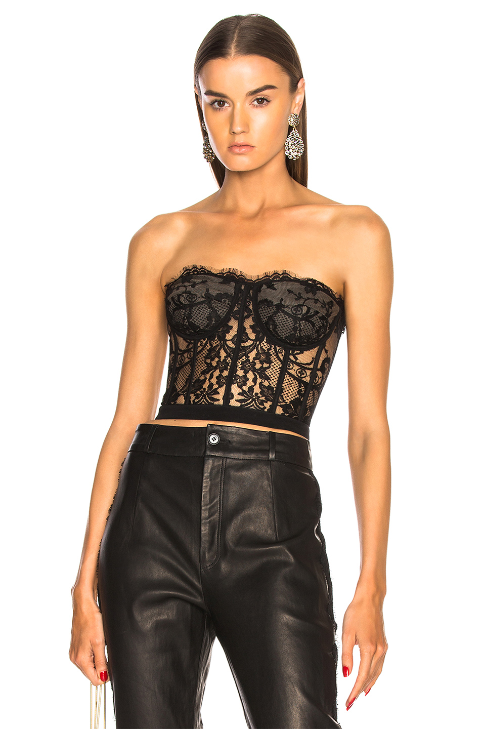 ee1e097c24428 Buy Original Alexander McQueen Lace Bustier at Indonesia