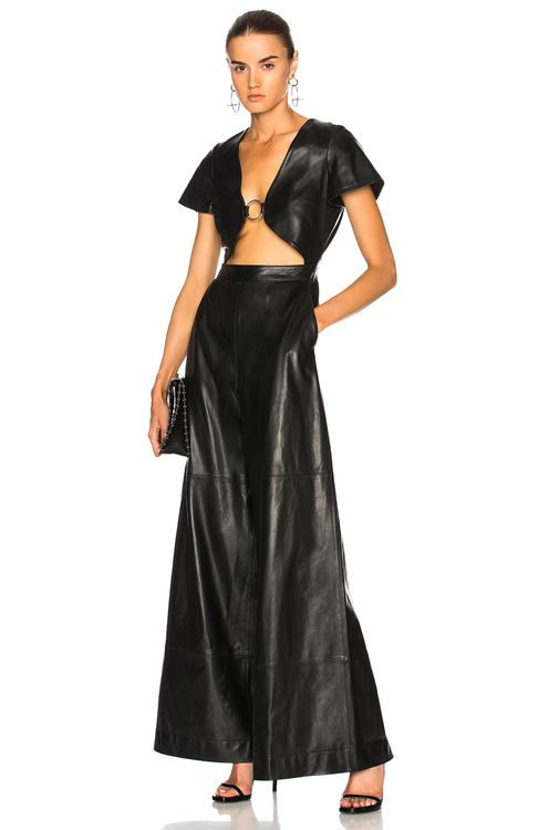 Understated Leather Ultimate for FWRD Leather Cut-Out Jumpsuit