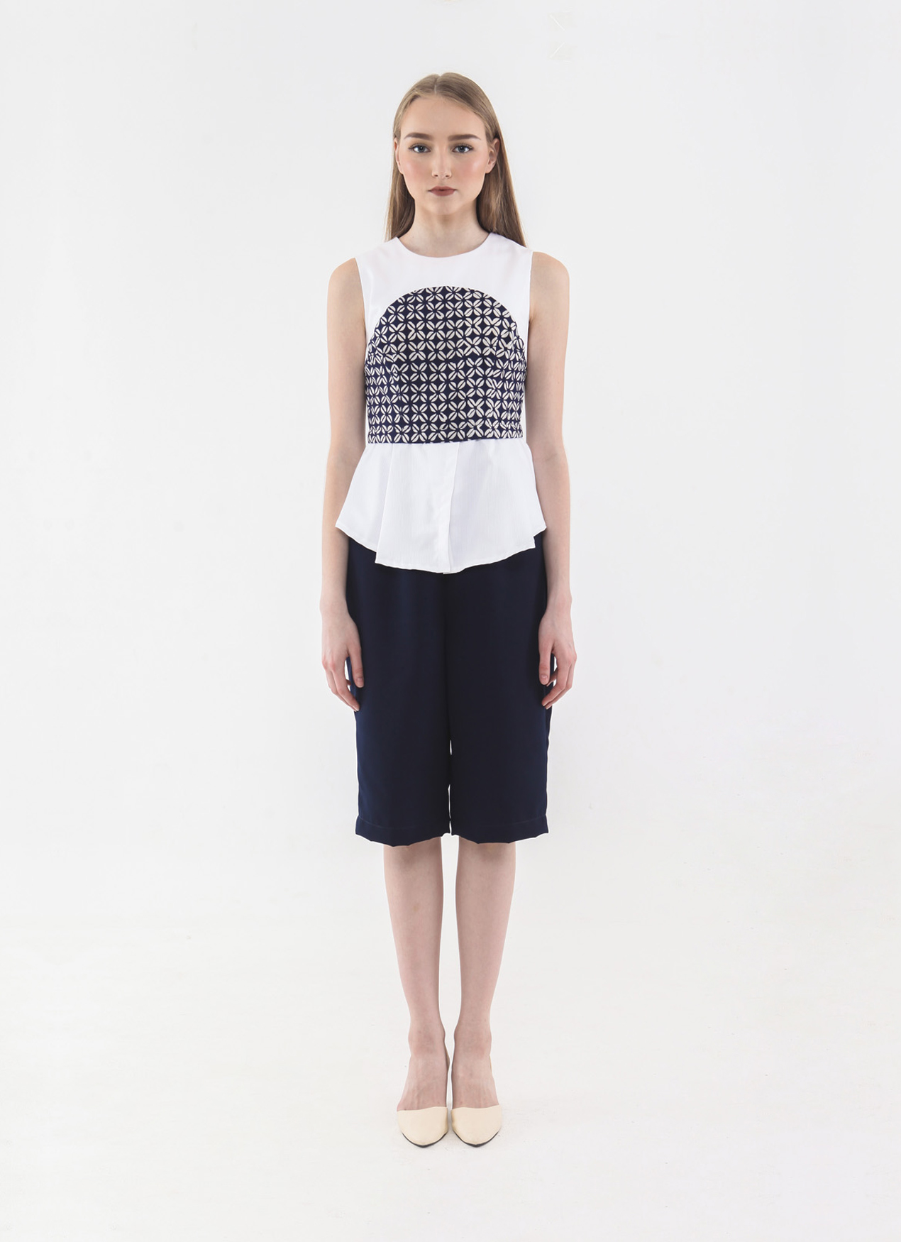 1cec35e8aee5 Buy Original Anynome Navy Blue Ivy Culotte Jumpsuit at Indonesia ...