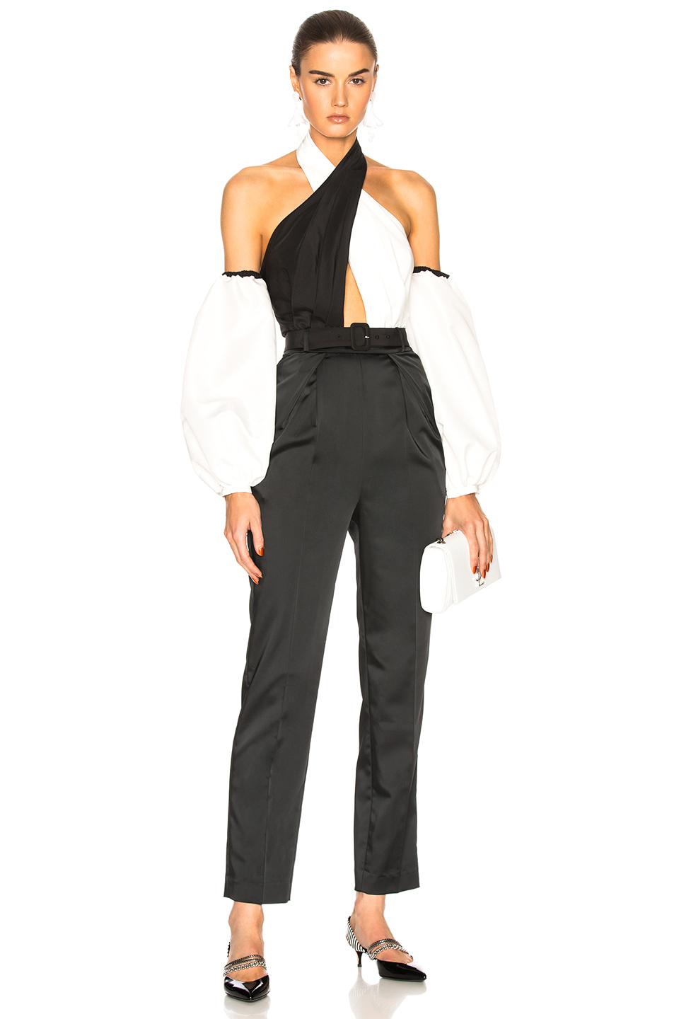 402bf48a973 Buy Original self-portrait Cross Front Monochrome Jumpsuit at ...