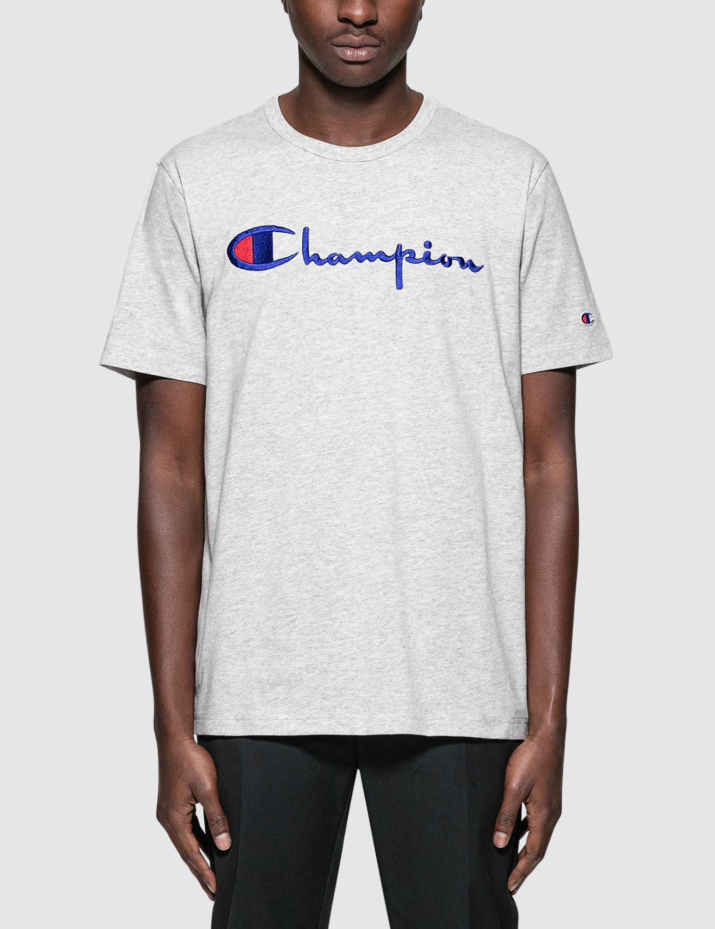 7583a0e7e2f3 Buy Original Champion Reverse Weave Script Logo S S T-Shirt at ...